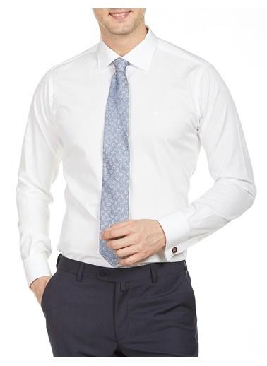 Bisse GM20Y21176 Uzun Kollu Duble Manşetli Klasik Gömlek Beyaz